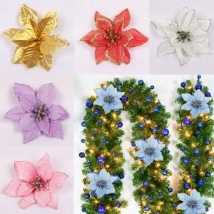 Image 3 - 5 Teile/los Weihnachten Girlande 13cm Die Schaffung Eines Weihnachten Atmosphäre Glitter DIY Neue Weihnachten Bäume Ornament Hochzeit Dekoration