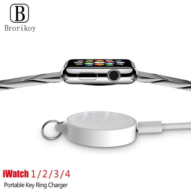 נייד מפתח טבעת שעון אלחוטי מטען USB כבלים עבור אפל iWatch סדרת 5 4 3 2 1 2W אלחוטי טעינה מהירה עבור iWatch 5 4 3