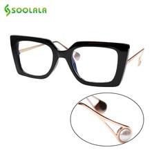 SOOLALA Anti Blue Light Cat Eye Sunglasses