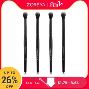 Image 1 - Zoreyaブランド黒しわ化粧ブラシソフト人工毛ポータブルアイメイクセット旅行化粧ブラシメイクアップ