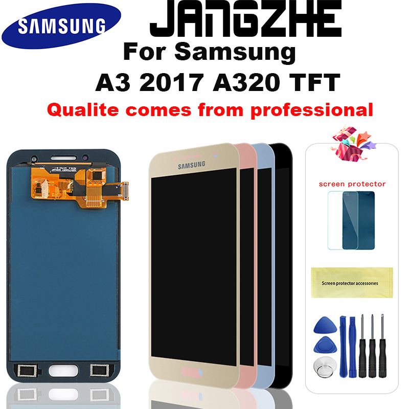 For Samsung Galaxy A3 2017 <font><b>LCD</b></font> <font><b>A320</b></font> SM-A320F A320M A320Y <font><b>LCD</b></font> Display Touch Screen Digitizer Assembly For A3 <font><b>A320</b></font> <font><b>LCD</b></font> Screen image