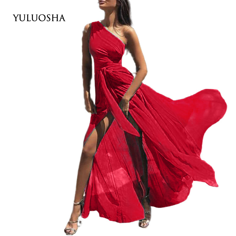 YULUOSHA Sexy Wedding Party Dress Sleeveless Strapless Burgundy Bridesmaid Dresses Chiffon Dress Vestidos De Fiesta De Noche