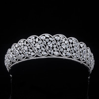 Princess Crowns Wedding Accessories Head Jewelry Hair Tiaras Full Zircon Crystal Bridal Headpiece For Wedding Prom Party