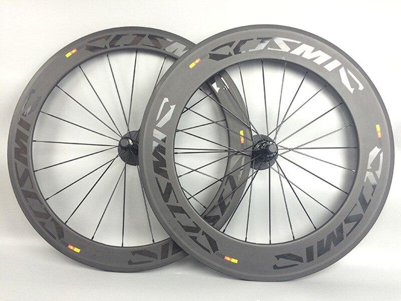 700C Carbon Räder Rennrad Disc Bremse 142mm Klammer Tubular Full Carbon Faser Fahrrad Laufradsatz Cosmic SLR 60 + 88mm 23mm breite