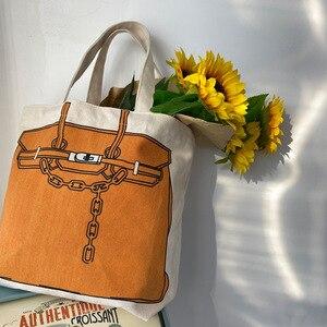 Image 4 - Youda design original impressão de moda grande capacidade bolsa estilo clássico senhoras sacola de compras casual simples feminino