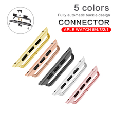 Adapter connector For Apple Watch band  series 5 4 3 2 1iwatch strap 42mm 38mm 44mm 40mm Stainless Steel clasp adaptor connector 1 pair upgrade quick release stainless steel watch band adapter connector for apple watch iwatch 42mm 38mm strap connector