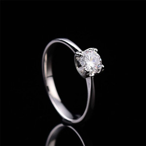 Image 2 - Moissanite Rings for Women D color 0.5ct 2ct Super Flash Engagement Rings Classic S925 Sterling Silver Ring Femlae Fine Jewelry