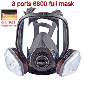 3 interfaces 6800 combinaison de masques | Filtre 6001/SJL avec filtre 5N11 en coton/501, boîte de filtres, masque à gaz respirateur