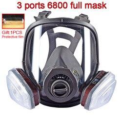 3 interfaz 6800 combinación de máscara 6001/filtro SJL con filtro 5N11 algodón/501 caja de filtro máscara de gas respirador