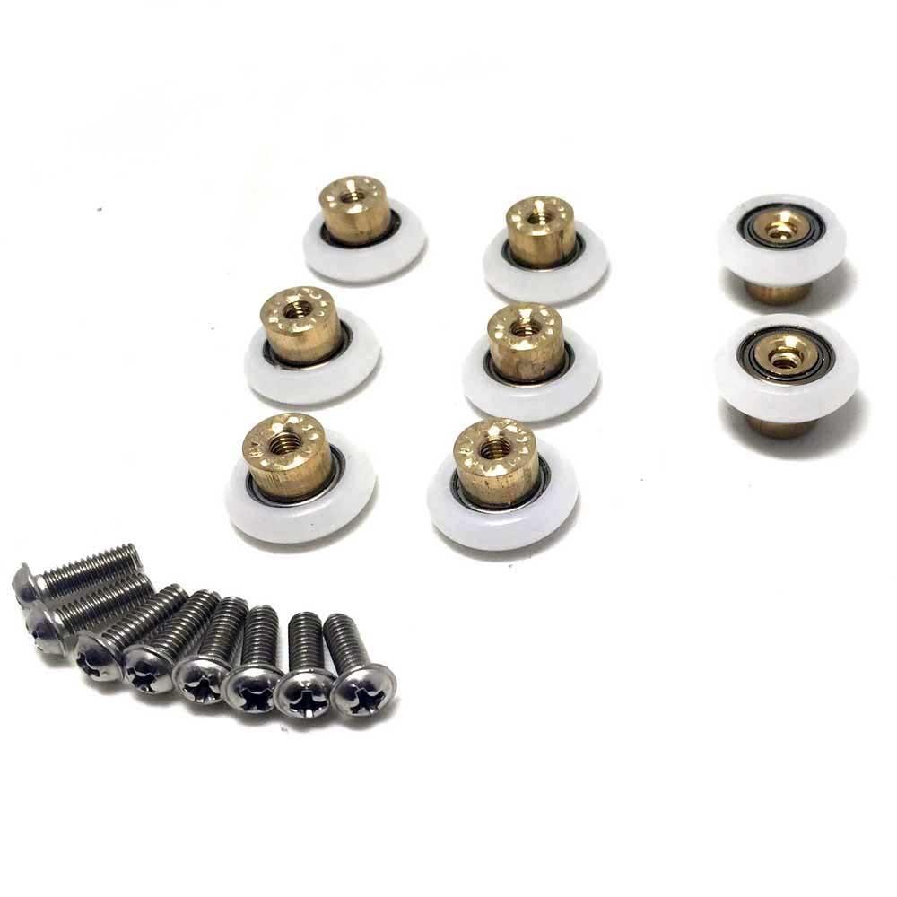 8x Shower Door Rollers/Runners/Wheels Replacement Parts