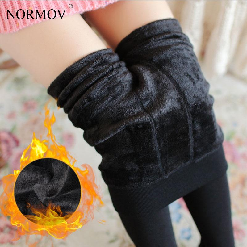 NORMOV XS-3XL Winter Plus Cashmere Pantyhose Woman Casual Warm Big Size Faux Velvet Knitted Thick Slim Super Elastic Sexy Tights