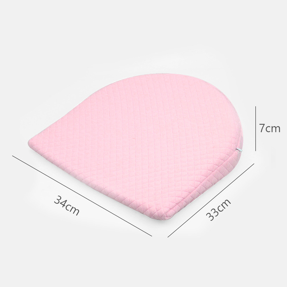 3D Baby Pillow Bedding Comfortable Memory Cotton Zipper Soft Triangle Semicircle Detachable Infant Anti Spitting Milk Slope