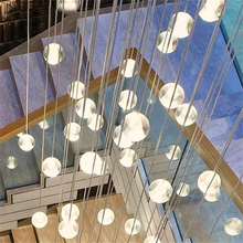 Nordic Crystal Glass Ball LED Pendant Lights LOFT Fixtures Staircase pendant Lamps Bar Hanging Lamp Hotel Villa Duplex Apartment