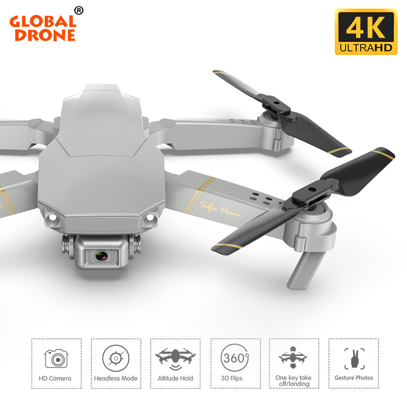 FPV Quadcopter Drones Camera Remote-Control Wifi 4K With HD Global ANU