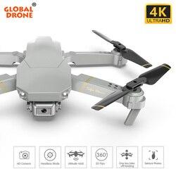 Global ANU 4K Dron Selfie Controle Remoto Zangão Zangão X Pro Wi-fi FPV Quadcopter Drones com Câmera HD Quadrocopter VS SG900 E58