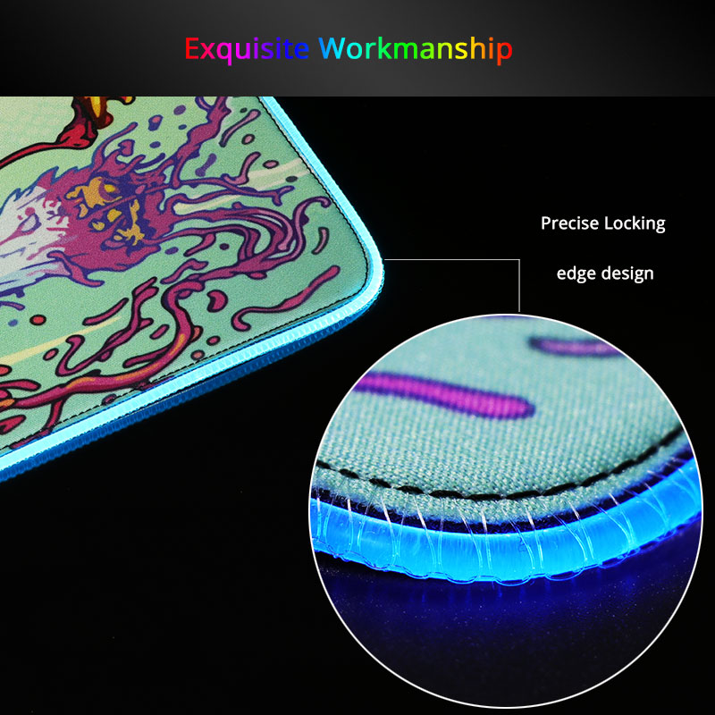 Mairuige DIY Sexy Anime Girl Gaming RGB Large Mouse Pad Gamer Computer Mousepad Backlit Mause Pad for Desk Keyboard LED Mice Mat 2