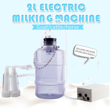 Electric Milking Machine for Cow Goat 2L Plastic Milker with 24W Electric Motor PVC Bucket Sheep cattle Milking Machine
