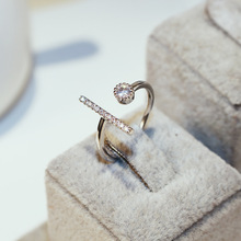 Luxury Tail Compass Hollow Carved crystal Silver Color Ring Women Square Vintage Fascination Rings For Women fascination