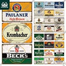 Putuo decoração alemão cerveja vintage estanho sinal de metal placa decorativa decoração da parede bar pub homem caverna sala estar decoração casa