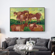 Famous Van Gogh Cows (After Jorsaens) Oil Painting On Canvas Posters And Prints Wall Art Picture for Living Room Home Decoration claude monet anemone oil painting on canvas posters and prints wall picture for living room home decoration