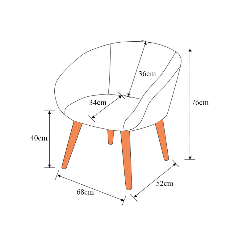 Nordic Creative Adult Chair Modern Art Restaurant Dining Room Chairs Comfortable Lounge Conference Room Chair Furniture Chair