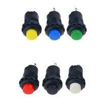 6 pièces, interrupteur à bouton-poussoir autobloquant DS-428, marche-arrêt 12mm, 3A, 125vac,, 250vac, 6 couleurs, DS428