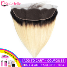 Gabrielle Brazilian Straight 1b 613 Frontal 13x4 Ear to Ear Lace Frontal Closure Blonde Remy Hair Frontal Swiss Lace Human Hair