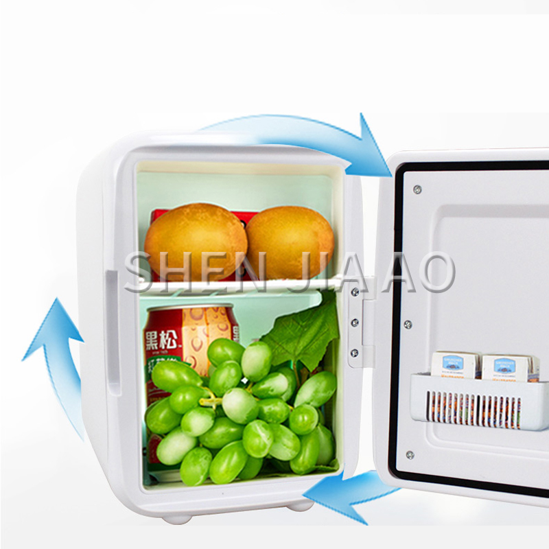 4L Car Refrigerator Heating And Cooling Small Refrigerator Portable Refrigerator Car Household Dual-use Mini Fridge 220-240V/12V