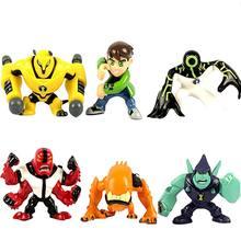 1 pçs dos desenhos animados estátua alienígena força menino 10 figuras de ação pvc modelo omnitrix heatblast quatro braços wildmutt coleção presente do miúdo brinquedo