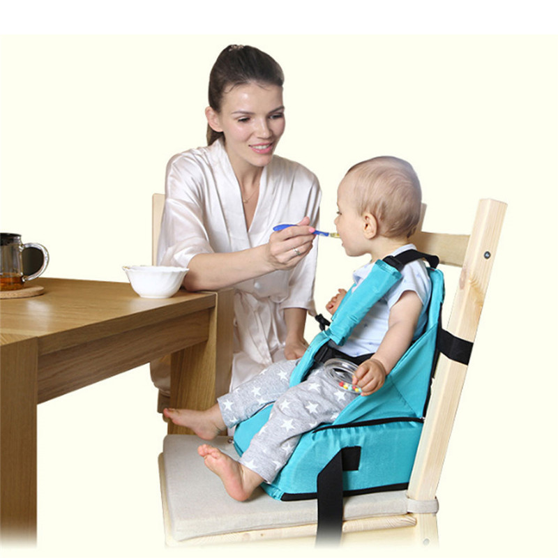 Children Portable Booster Seats Baby Feeding High Chair Stool Infant Feeding Booster Seat Portable Folding Traveling Baby Seat