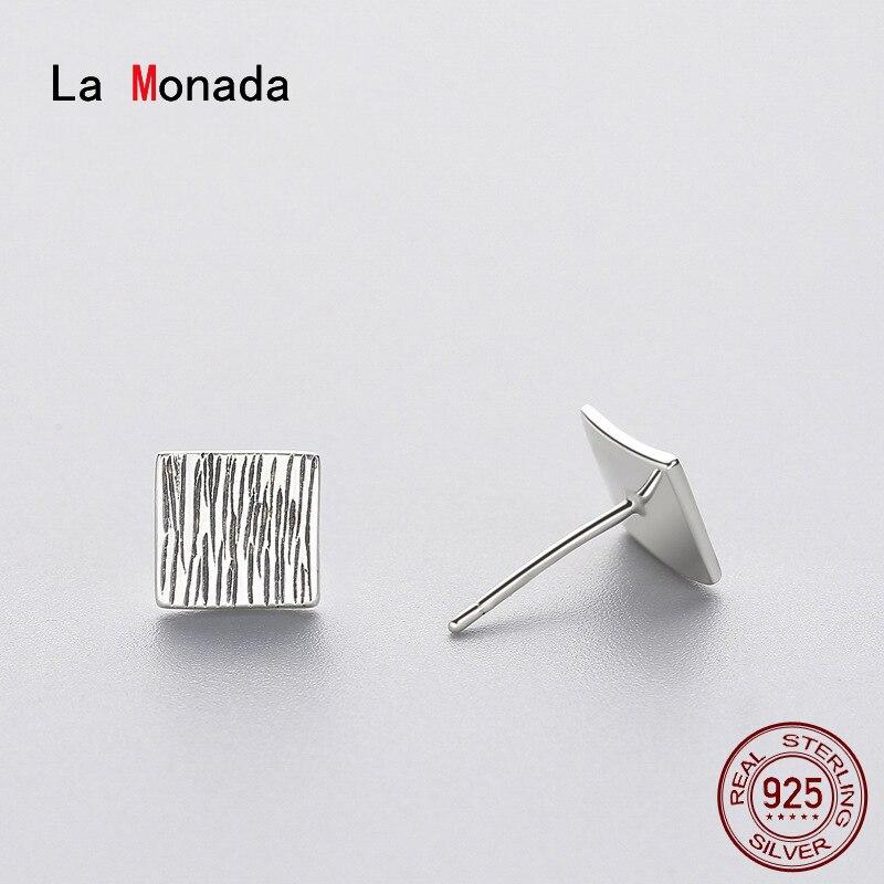 La Monada Geometric Stud Earrings For Women Silver 925 Minimalist Fine Women Earrings Jewelry Stud Earrings 925 Sterling Silver