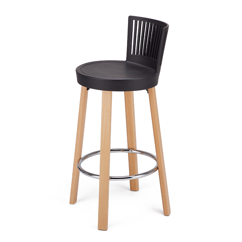 Nordic Solid Wood Bar Chair Designer Modern Minimalist Bar Stool Fashion Bar Chair Home High Stool