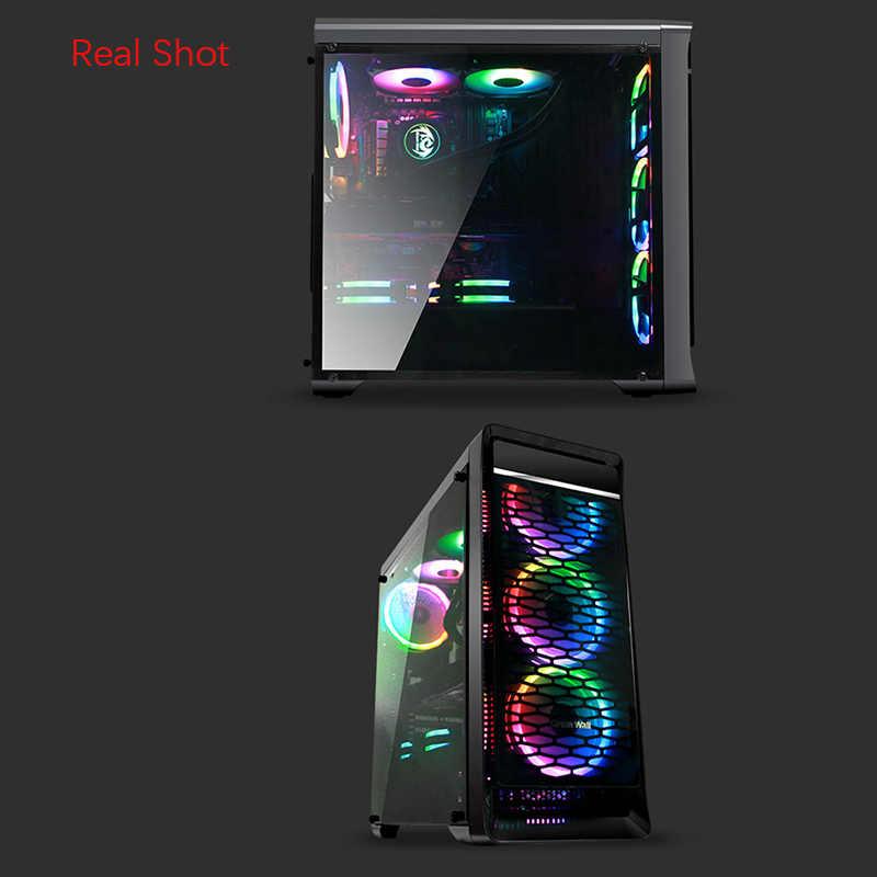 Grande paroi PC boîtier RGB ventilateur refroidisseur 120mm muet réglable LED 12V avec RF télécommande refroidisseur ventilateur RGB ordinateur ventilateur de refroidissement