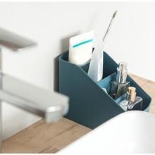 Plastic Multi-Grid Desktop Storage Box Living Room Cosmetics Bedroom Decoration DAG-ship