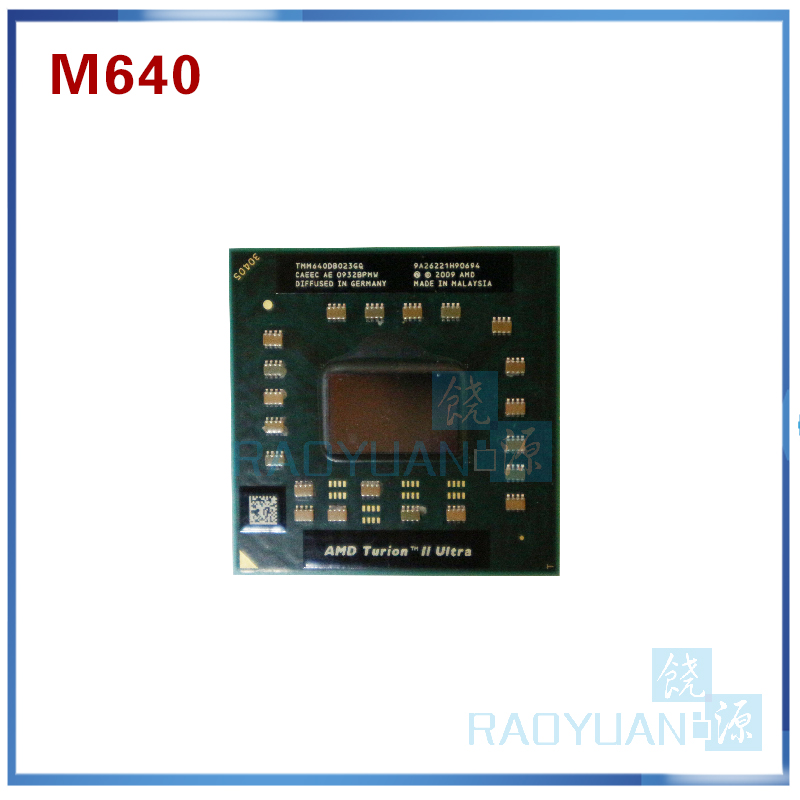 AMD Turion II Ultra Dual-Core Mobile TMM640 M640 TMM640DB022GQ 2.6G 2M Cpu Latop Processor Socket S1(SIG3)