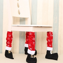 Christmas Lovely Table Leg Chair Foot Covers Feet Socks Navidad Decoration for Home Cover New Year Decor