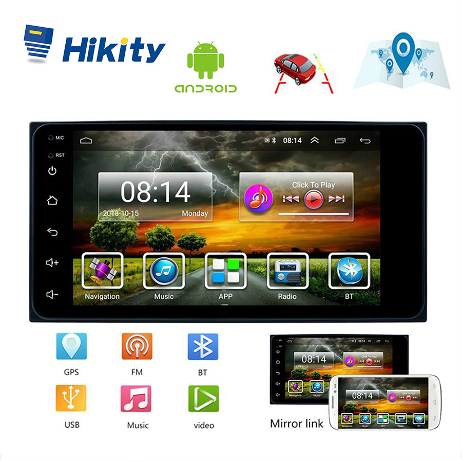 Hikity <font><b>2</b></font> <font><b>din</b></font> Car Radio Android 7