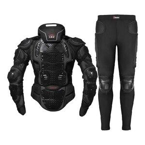 Image 5 - HEROBIKER Motorcycle Jacket Men Full Body Motorcycle Armor Motocross Racing Moto Jacket Riding Motorbike Protection Size S 5XL #