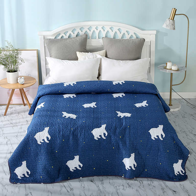 Luxury Summer Quilt twin full queen king Blankets Printed fashion Children Adults duvet white soft Comforter bedspread
