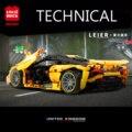 Новый мс 720S супер гоночный автомобиль 1128 шт. сборка модель конструкторных блоков, Детские кубики, развивающие игрушки для мальчиков подарки...