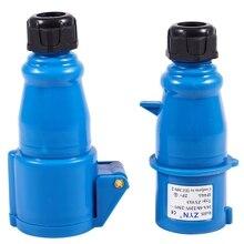 Водонепроницаемый IEC309-2 2P+ E промышленная штепсельная розетка AC 220-240V 16A Amp