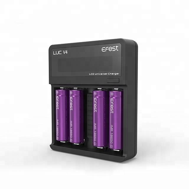 HOT Selling Efest LUC V4 Charger VS Blu4 4bay App Charger For Charging 3.7V Lithium Battery