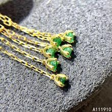 KJJEAXCMY ювелирные изделия из стерлингового серебра 925 пробы, инкрустированные натуральным изумрудом, женские серьги, изысканная поддержка, Популярные