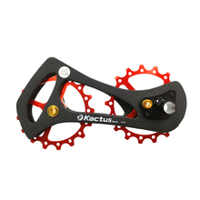 17T Bicycle Ceramic carbon fiber Bearing Jockey Pulley Wheel Set Carbon Fiber CNC Rear Derailleurs Guide for bicycle accessories