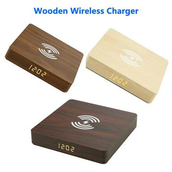 10W Qi Wireless Charger Wood Charging Pad For Apple IPhone 12 Wireless Phone Charger For Samsung S20 S10 Mobile Phone Chargers