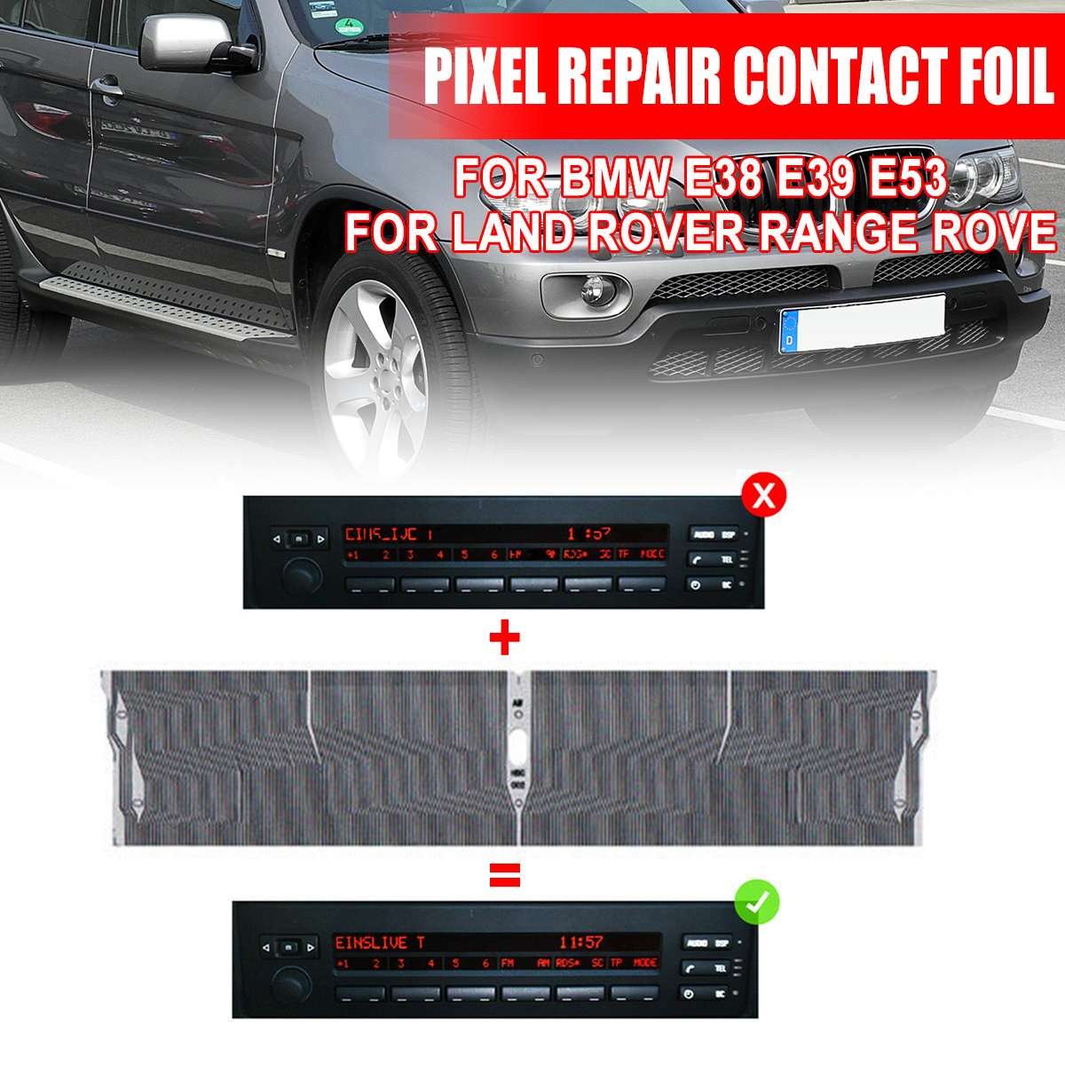 1Pcs Car Radio Display Pixel Radio Display Pixel Repair Contact Foil Suitable For BMW E38 E39 E53 For Land Rover For Range Rove