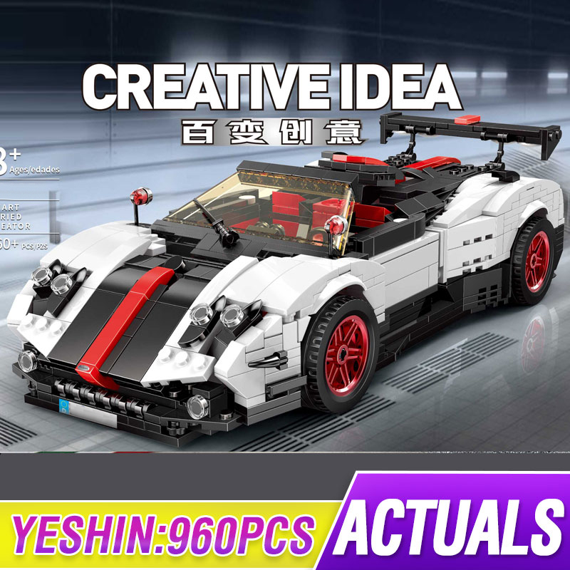 Yeshin MOC Technic Series Compatible with <font><b>23002</b></font> The Pagani Speed Racing Car Set Building Blocks Bricks Kits Model Toys image