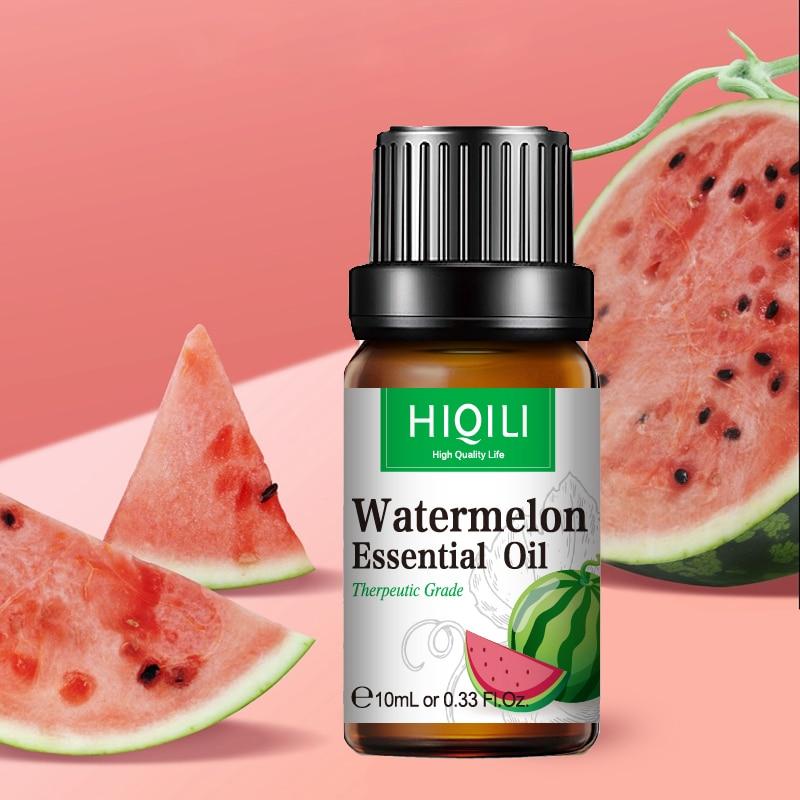 HIQILI Watermelon Fragrance Oil 10ML Diffuser Aroma Essential Oil Apple Passion Fruit Coconut Mango Watermelon Cherry