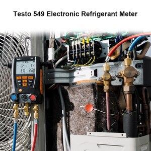 Image 2 - Цифровой мастерcool Testo коллектор 549, цифровой манометр системы ОВКВ, набор инструментов для охлаждения и кондиционирования воздуха R410a R410