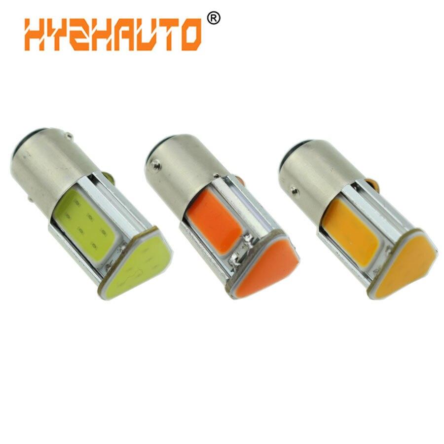 HYZHAUTO 1 шт. 1157 светодиодный Bay15d P21/5 Вт COB Автомобильные стоп-сигналы белый красный желтый автомобильная парковочная лампа 12 В